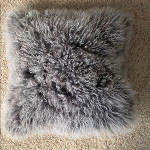 Mon Chateau Tibetan Lamb Fur pillow